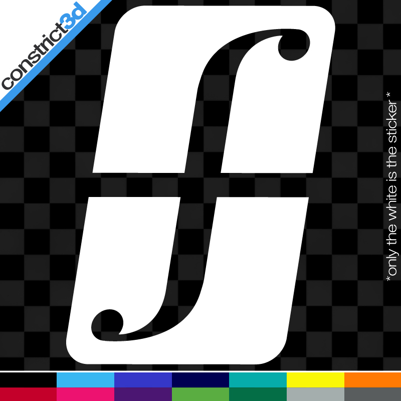 2x Forum 5 Vinyl Decals Any Color Snowboard Snow Shred
